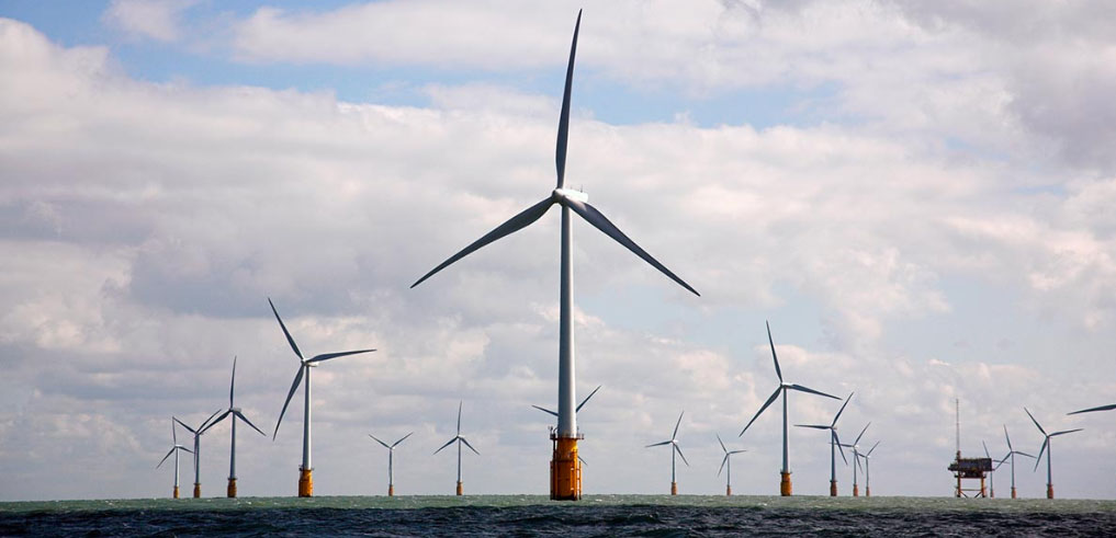 Thanet offshore wind farm, courtesy of Vattenfall