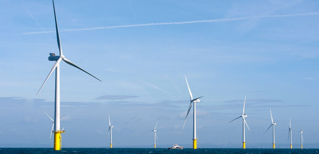 Rampion offshore wind farm, courtesy of Rampion Offshore Wind